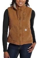 Women's Carhartt Mock-Neck Sherpa Lined Vest