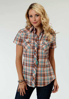 Women's Roper Short Sleeve Central Plaid Shirt