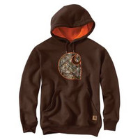 Men's Carhartt Rain Defender® Hooded Camo Applique C Sweatshirt
