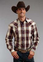 Men's Stetson Teak Ombre Plaid Shirt