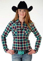 Women's Roper Ombre Plaid Shirt