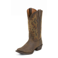 Men's Justin Brown Medium Round Toe Western Boot