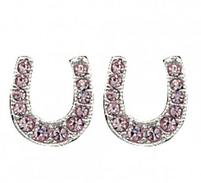 Montana Silversmiths Pink Ice Lucky Horseshoe Earrings