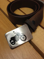 "Gestalt Stainless Steel ""Motorcycle"" Belt Buckle"