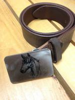 """Gestalt Stainless Steel """"Horse Head"""" Belt Buckle"""