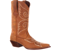 Women's Durango Crush Tan Snake Boot
