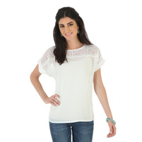 Women's Wrangler Short Sleeve Top with Embroidery