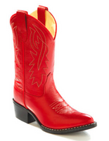 Old West Kid's Red Cowboy Boots
