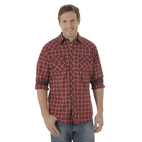 Men's Wrangler 20X Competition Red Plaid Longsleeve Shirt