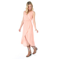 Women's Wrangler Peach Sleeveless Dress