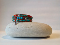 Beaded Triple Wrap Bracelet