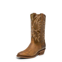 Men's Nocona Tan Vintage Caballo Medium Round toe Western Boot