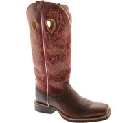Women's Twisted X Square Toe Cherry Brown