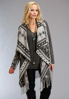 Stetson Wool Blend Black and White Cardigan