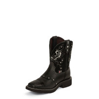 Women's Justin Gypsy Black Wide Square Toe Boot