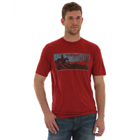 Men's Wrangler Red T-Shirt with Desert Scene
