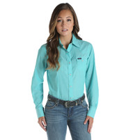 Women's Wrangler Turquoise Long Sleeve