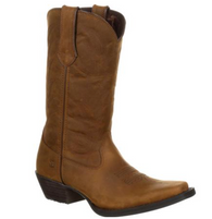 Women's Durango Brown Leather Narrowed Square Toe Boot