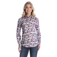 Women's Wrangler Floral Rayon Western Shirt