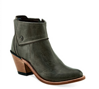 Women's Old West Short Zippered Grey Round Toe Boot