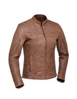 Women's Unik Leather Arizona Brown Jacket