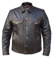 Men's Unik Leather Colorado Black Jacket