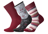 Smartwool Women's Trio Tibetan Red Heather Sock Gift Pack