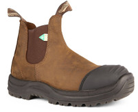 Blundstone 169 Crazy Horse CSA Rubber Toe Cap Safety Boot *FREE SHIPPING