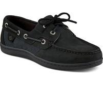 Women's Sperry Koifish Linen Black Boat Shoe