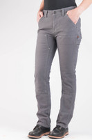 Women's Dovetail Workwear Maven Slim Grey Stretch Canvas Work Pant