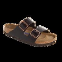 Birkenstock Arizona Brown Amalfi Leather Soft Footbed Sandal