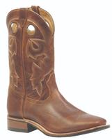 Men's Boulet Medium Brown Wide Square Toe Western Boot