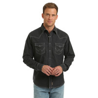 Men's Wrangler Retro Charcoal Western Shirt