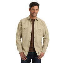 Men's Wrangler Retro Premium Tan Western Shirt