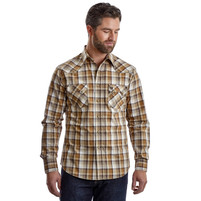 Men's Wrangler Retro Brown and Tan Western Shirt