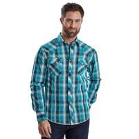 Men's Wrangler Emerald and Dark Green Western Shirt