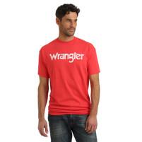Men's Wrangler Deep Coral Logo T-Shirt