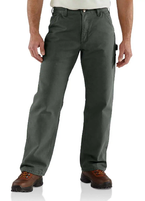 Men's Carhartt Flannel Lined  Washed Duck Dungaree Work Pants