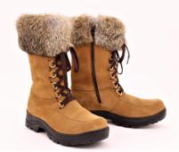 "Women's Barbo Flipgripz ""Jill""  Hazelnut Lace and Zipper Winter Boot"
