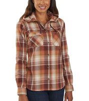 Women's Carhartt Beartooth Hooded Flannel Shirt