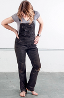 Women's Dovetail Workwear Freshley Overall Black Denim