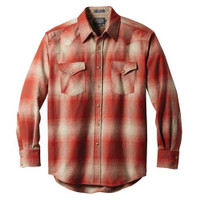 Men's Pendleton Red / Tan Ombre Canyon Shirt