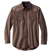 Men's Pendleton Fitted Pieced Canyon Western Shirt