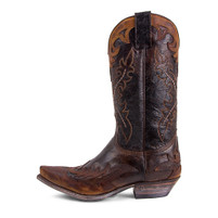 Sendra Boots 9669 Brown Overlay Toe Western Boot