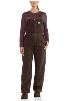 Women's Carhartt Weathered Duck Wildwood Lined Bib Overall
