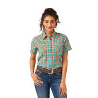 Women's Wrangler Turquoise and Orange Short Sleeve