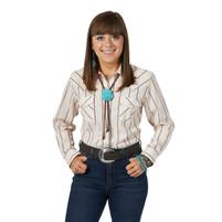 Women's Wrangler Peach Stripe Long Sleeve Shirt