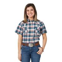 Women's Wrangler Multi-Coloured Plaid Short Sleeve Shirt