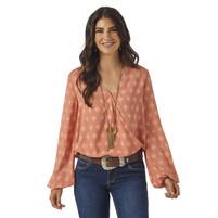 Women's Wrangler Peach Blouse