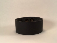 Leather Cuff Plain - Black